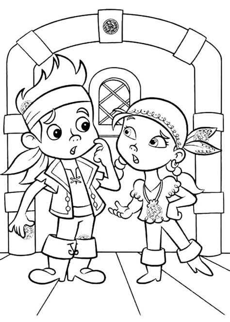Jake And The Neverland Pirates Christmas Coloring Pages Jake Coloring Pages