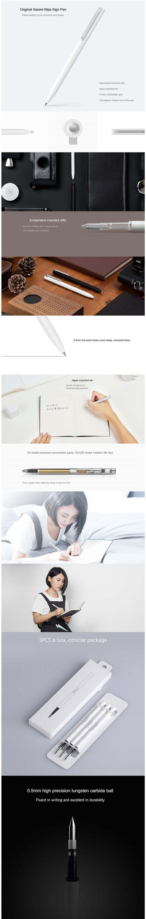 Xiaomi Pen Mijia 0 5mm Sign new xiaomi mijia smooth 0 5mm writing point durable