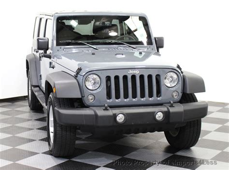 jeep wrangler unlimited sport 2015 2015 used jeep wrangler unlimited certified wrangler