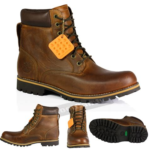 mens timberland 74134 6 inch rugged waterproof ankle brown