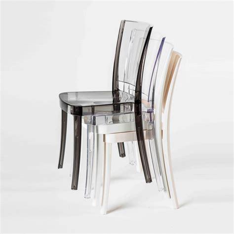 bellelli linea ufficio chaise transparente en polycarbonate lucienne neutre