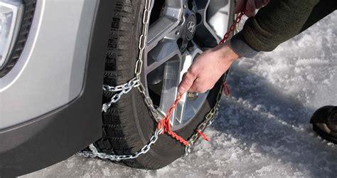 put  snow chains  drive safely les schwab