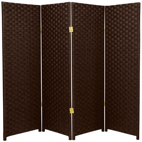 room divider home depot 4 ft mocha 4 panel room divider ss4fiberdmoc4p the