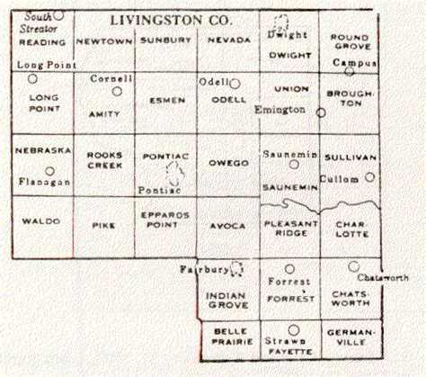 Livingston County Records Livingston County Illinois Maps And Gazetteers