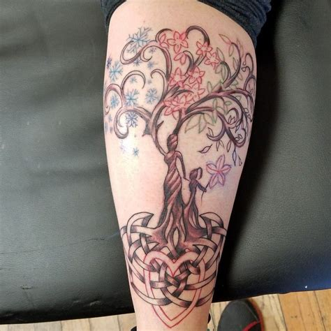 mother daughter tree tattoo tree of 4 seasons celtic