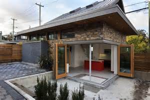 Sips House by Sips Laneway House Fits In A Backyard