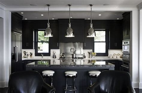black kitchen lighting modern minimalist lighting solutions for a chic home