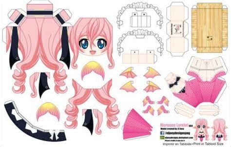 Anime Papercraft Printable - musume papercraft anime amino