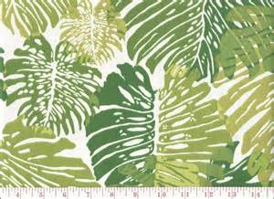 Hawaiian Print Upholstery Fabric Duralee Tropical Leaf Print Indoor Outdoor Upholstery