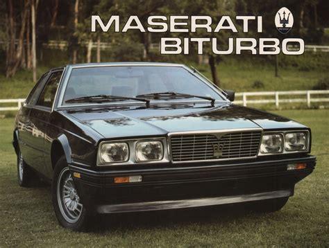 maserati brochure maserati 1984 biturbo sales brochure
