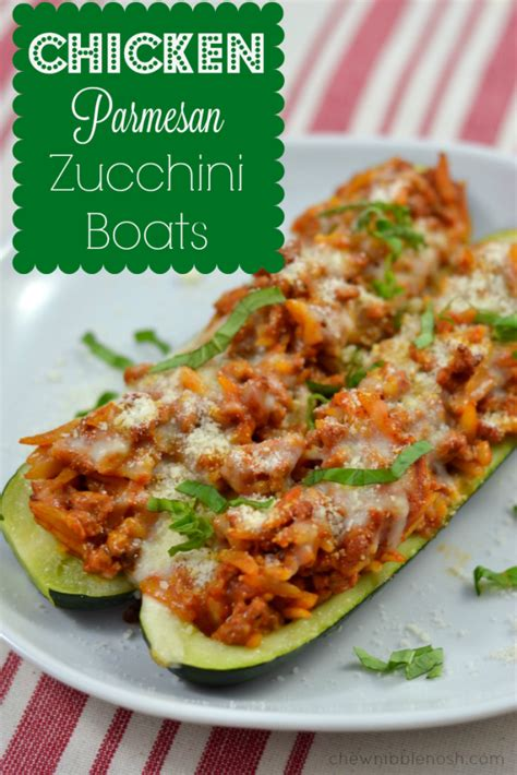 chicken parm stuffed zucchini boats zucchini chicken parmesan boats