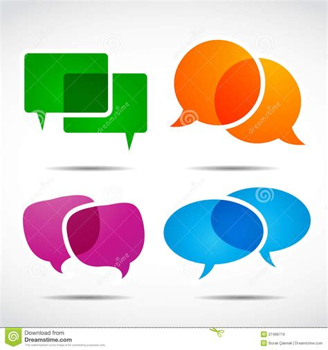 social speech bubbles different colors shapes stock vector social media speech bubble set stock vector illustration