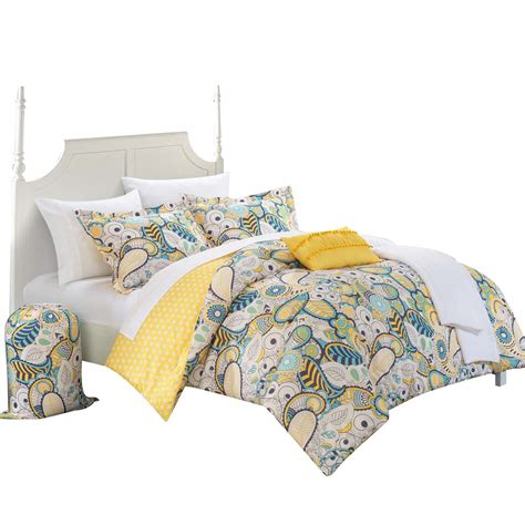 yellow twin xl comforter princess paisley polka dot comforter set bed in a bag full