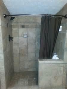 shower door half wall best 25 half wall shower ideas on bathroom