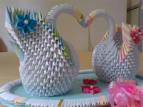 How To Make Handcraft - jewellia handicrafts 3d origami wedding swans