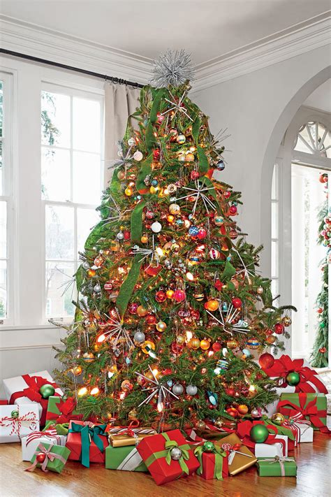 christmas tree with ribbon pictures new ideas for tree garland southern living