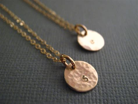 initial necklace disc necklace gold disc necklace