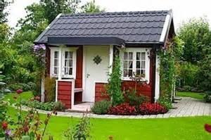 little red swedish garden cottage design bookmark 18671