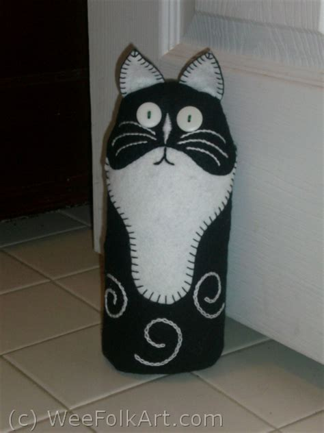 Cat Door Stopper by Cat Free Sewing Pattern Cat Bean Bag Door Stop Or