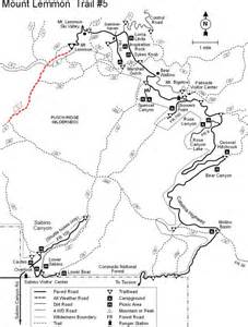 arizona hiking trail maps mount lemmon trail 5 hiking arizona hikearizona