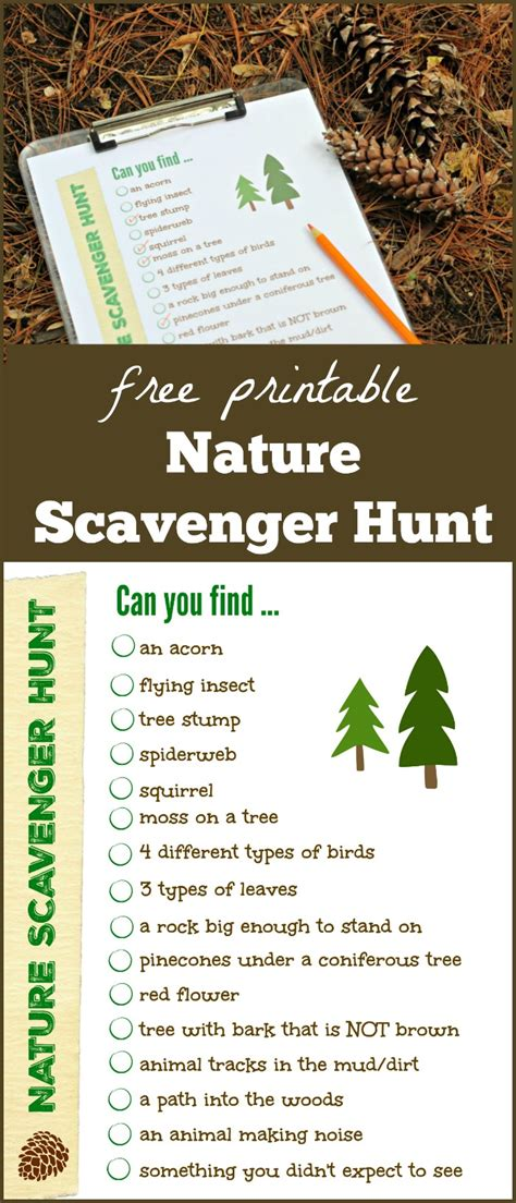 backyard scavenger hunt list nature scavenger hunt free printable list nature