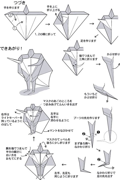 How To Make Origami Wars Characters - wars trek origami fandom s delight