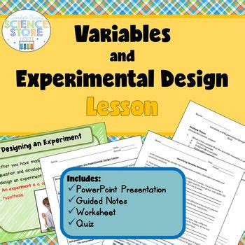 experimental design lesson variables and experimental design lesson scientific