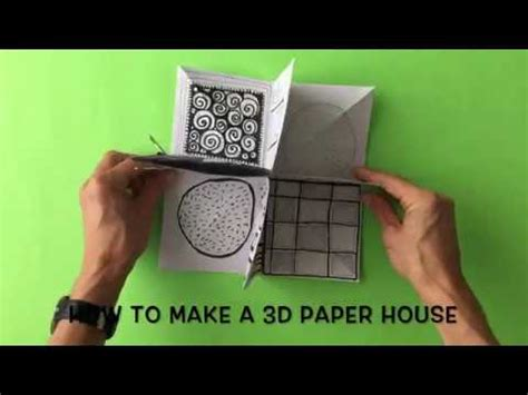 make a 3d house how to make a 3d paper house youtube