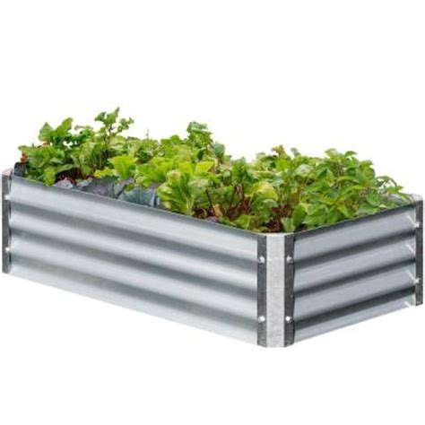 metal raised garden beds earthmark bajo series 22 in x 40 in x 10 in rectangle