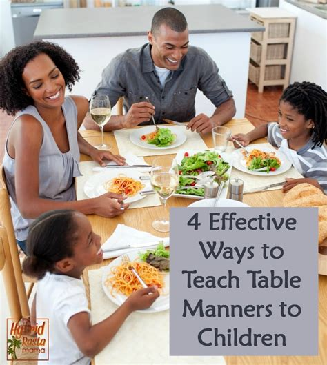 Ways To Improve Your Table Manners by Parenting