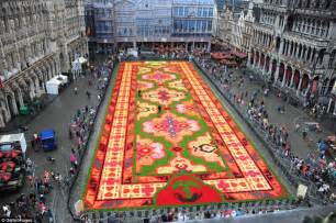 Turkish Carpet Patterns by Carpet Of Flowers For Brussels Central Square As Country