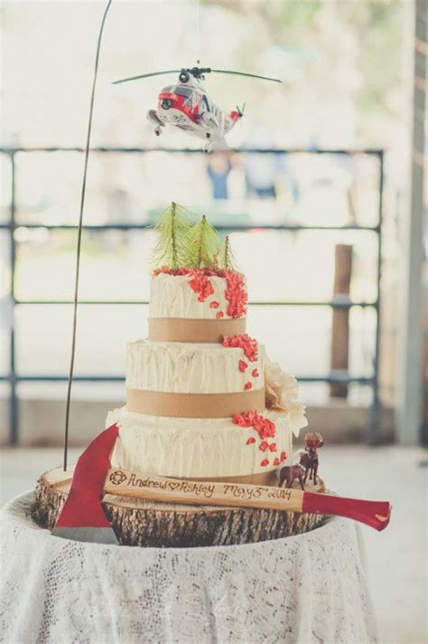 Creative Fire Fighters Wedding Cake Idea   Essence Photography   530.440.3450   Destination