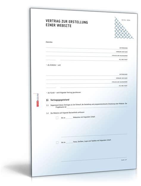 Html Design Vorlage Website Erstellungsvertrag Muster Zum