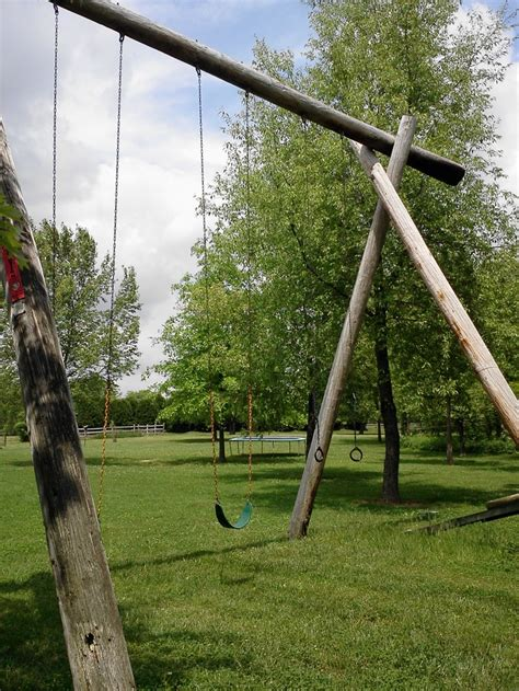 Coolest Swing Set Ever Made Out Of Telephone Poles