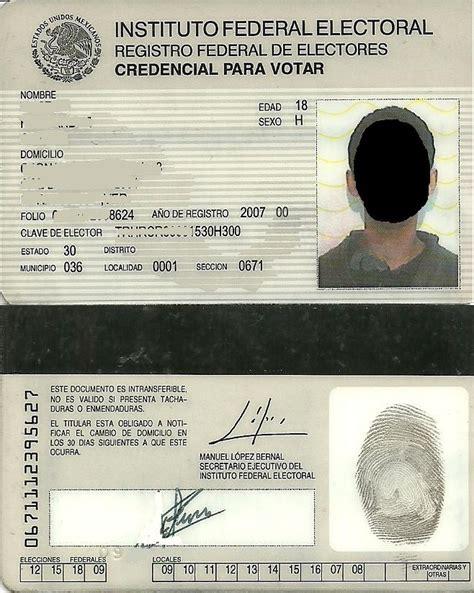 formato credencial de elector file credencial de elector de m 233 xico jpg wikimedia commons