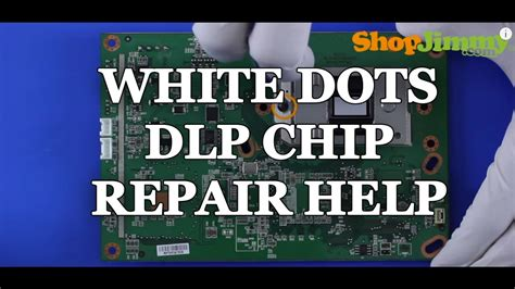 white dots on mitsubishi projection tv replacing a dlp tv chip white dots issue how to fix