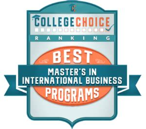 Best International Mba Programs 2017 by 20 Best Master S In International Business Degrees