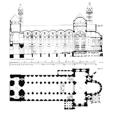 Milan Cathedral Floor Plan by Bizantine Architecture Through Romanesque Cluniac And