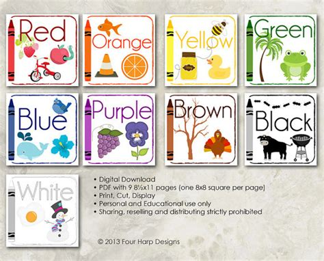 wall cards color wall cards diy printable for preschool early