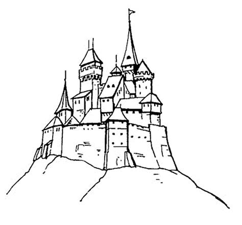 coloring pages of hogwarts castle sketch of hogwarts castle coloring pages