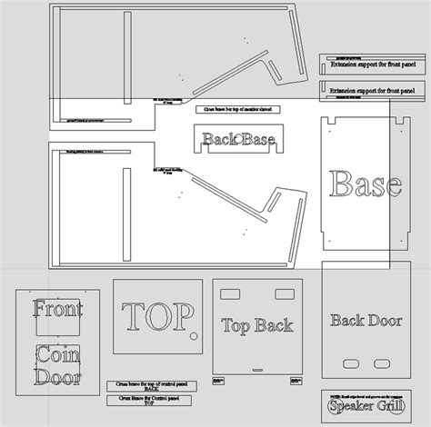 Atari Cabinet Plans