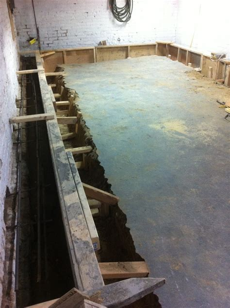 Bench Footing: Lower Basement Floor With Benching