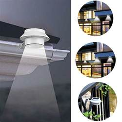 outdoor fence lighting solar power powered outdoor garden light gutter fence led