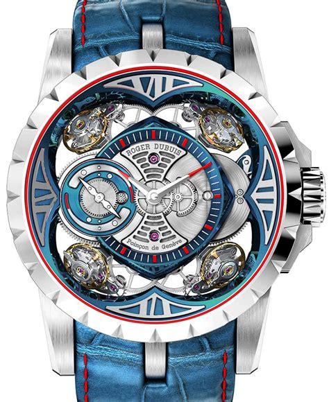 Roger Dubuis Excalibur World Time Silver the mesmerizing roger dubuis excalibur quatuor cobalt micromelt