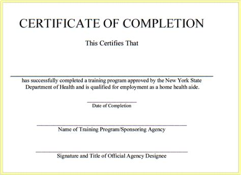 aid certificate template free program aide health home program backupswag