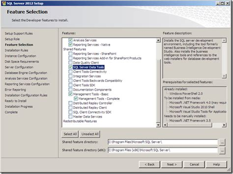 installing sql server 2012 for configuration manager 2012 what is the issue with ssdt