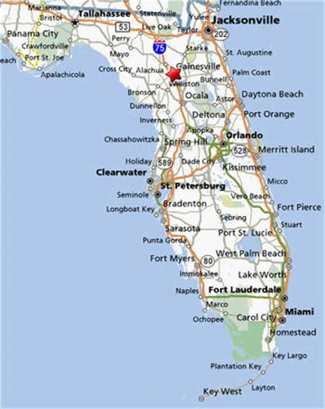 map of florida gainesville deboomfotografie