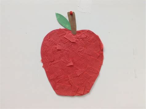 Apple Paper Craft - apple tissue paper craft tissue paper craft