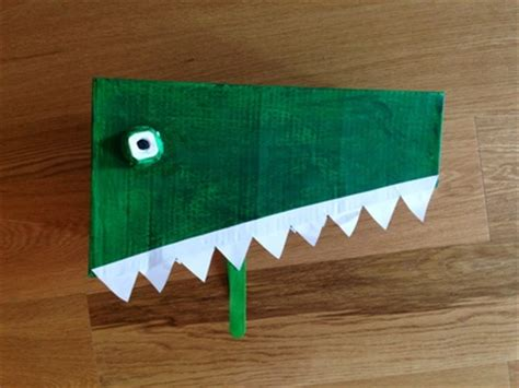 How To Make A Crocodile Mask Out Of Paper - cardboard crocodile costume my kid craft