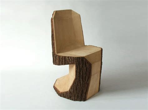 tree trunk chair arbor chair is a rustic interpretation of the panton chair